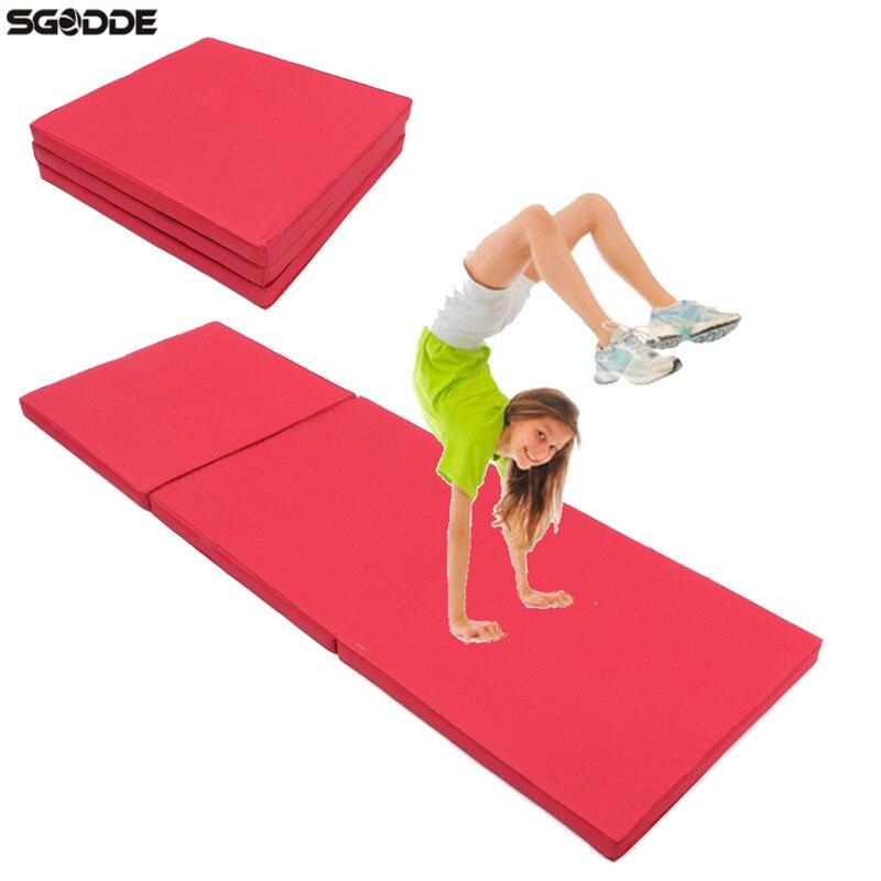 180x60x5cm Folding Panel Gymnastics Mat Gym Exercise Yoga Mats Pad Yoga Blankets For Outdoor Training Body Building