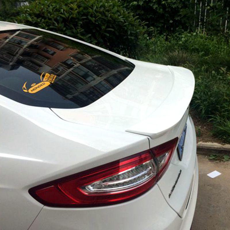 For Mondeo Spoiler MK5 Mondeo ABS Material Car Rear Wing Escape Primer Color Rear Spoiler For Ford Mondeo MK5 Spoiler 2013-2016