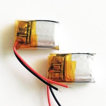 2 uds 3,7 v 50mAh litio li-polímero LiPo batería recargable para DIY Mp3 auriculares grabadora bluetooth auricular 501015