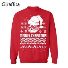 Giraffita Christmas Clothes 2017 New Arrival Men Winter Hoodies Long Sleeve Fashion Casual Autumn Sweatshirts Print SweateShirts