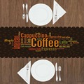 Современные скатерти для кухни  столовой  с 3d принтом  коричневый  зеленый  оранжевый  кофейный  американский  латте