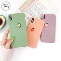 Jenny Simple Stéréo Fruits Anglais pour iPhone x xr xs max 6 6 s 7 8 Plus Solide Couleur COQUE EN TPU POUR Téléphone