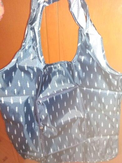 eTya Fashion Eco friendly Shopping Bag foldable with Zipper Women's Handbags Waterproof Printing Reusable Shopping Bag Tote Bags photo review