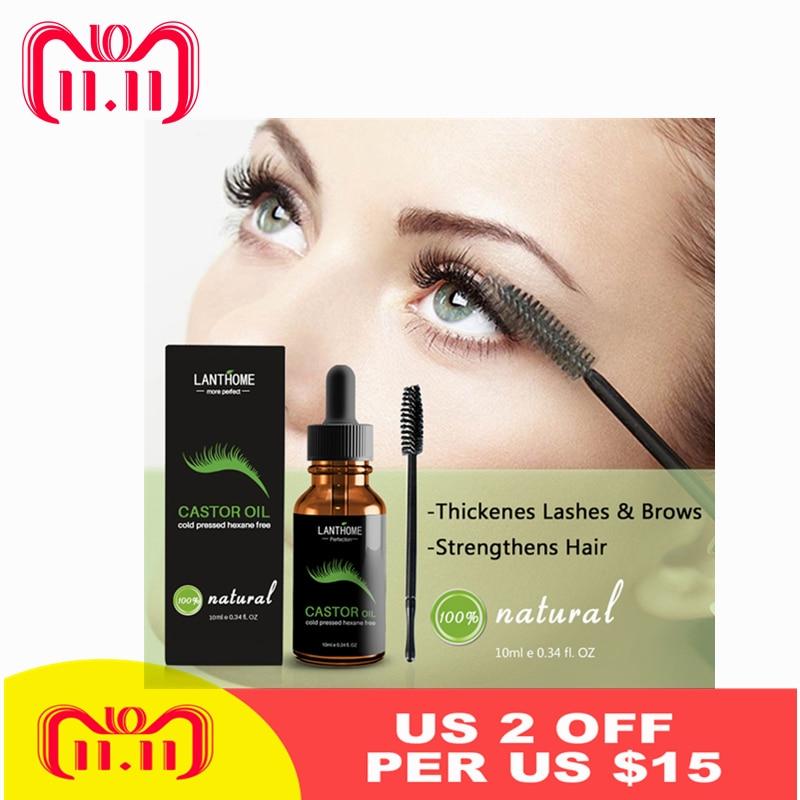 Eyebrow Eyelash Growth Liquid Serum Enhancer Eye Lash Growth Essential Oil Powerful Makeup Gift Eyelash Brush For Women TSLM2