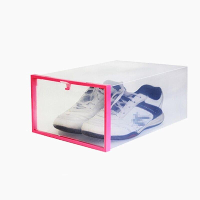 Пластиковый Прозрачный Ящик Случае Хранения Обуви Организатор Шкафы Stackable Коробка 1 шт.