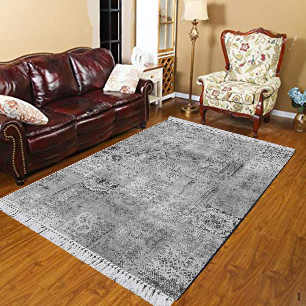 Else Gray White Ottoman Ethnic Authentic Retro 3d Print Anti Slip Kilim Washable Decorative Kilim Area Rug Bohemian Carpet