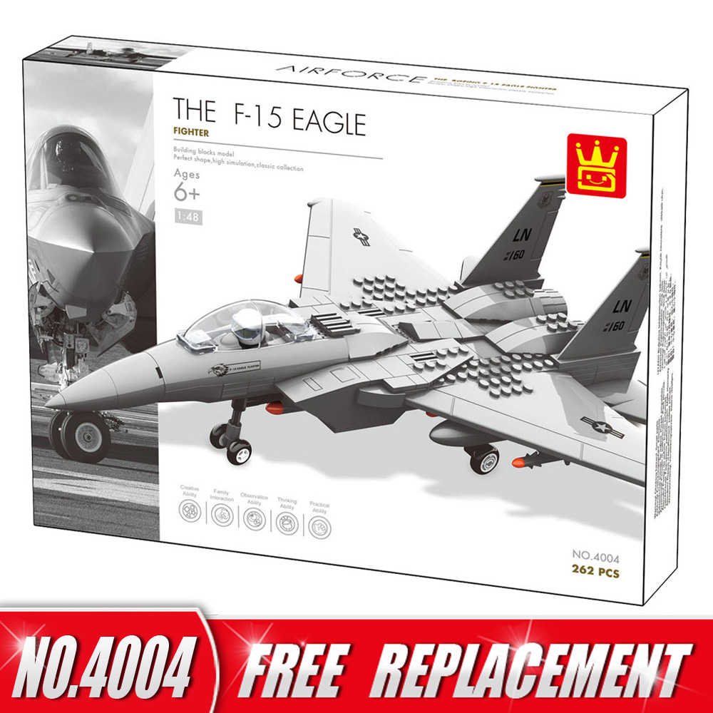 WANGE Blocks Military Series F15 Eagle Fighter Educational Creative Bricks DIY Building Blocks Kids Toys Children Gifts hot sale 1000g dynamic amazing diy educational toys no mess indoor magic play sand children toys mars space sand