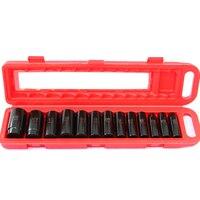 13 pces 1/2in conjunto de soquete de impacto profundo cromo-molibdênio aço reparação de automóveis mão conjunto de ferramentas