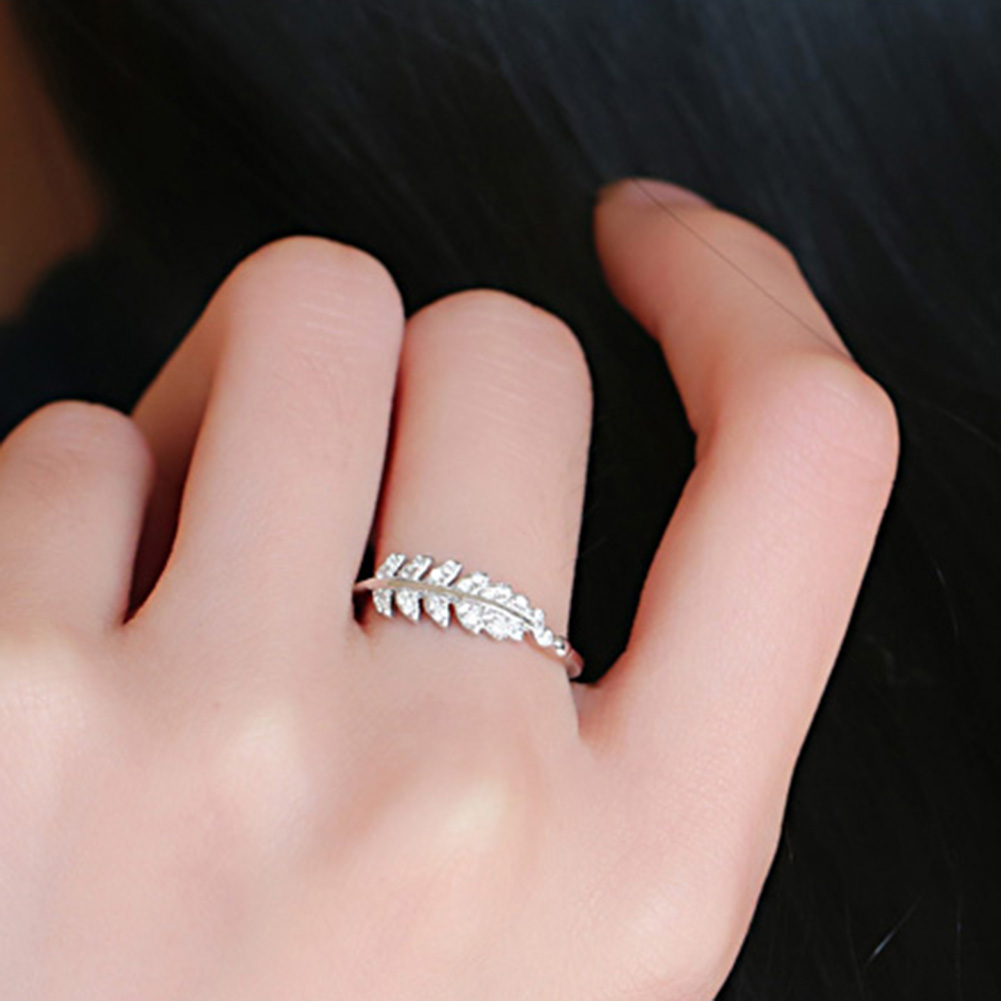 Fashion Promise Olive Leaf Band Adjustable Open Index Finger Ring ...