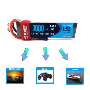 DXF Lipo Battery 2S 7.4V 7000mAh 60C 120C XT60 T Deans TRX EC5 RC Parts For  Drone Airplanes Cars Boat 4x4 1/8 1/10 2