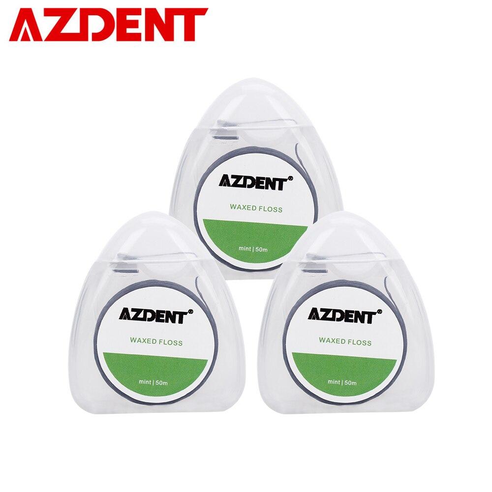 Sinnvoll Azdent 3 Box Schwarz Bambus Holzkohle Dental Flosser Mint Geschmack Integrierten Spule Flach Draht Zahnseide Ersatz Core 50 Mt /spool Mundhygiene