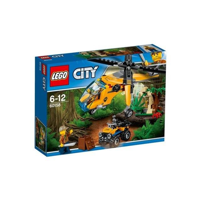 Конструктор LEGO CITY Грузовой вертолёт исследователей джунглей 60158-L