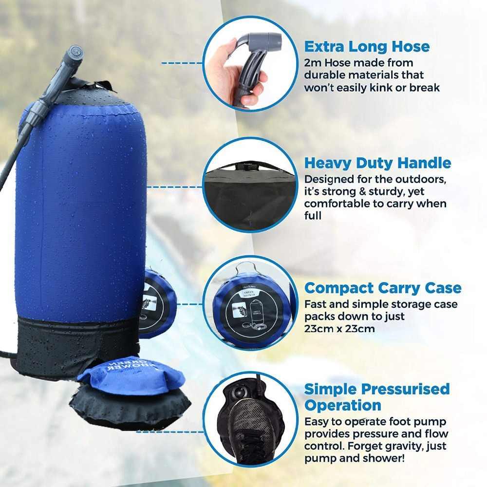563ecd85c6cf Camping Pressure shower water bag camp shower eco-friendly 10-30L 500D PVC  Tarpaulin folding outdoor pressure tank portable