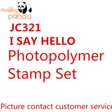 JC321 I SAY HELLO New 2019 Metal Cutting Dies And Stamps Die Cuts Album Paper Embossing Diy Stencil Decorative say hello