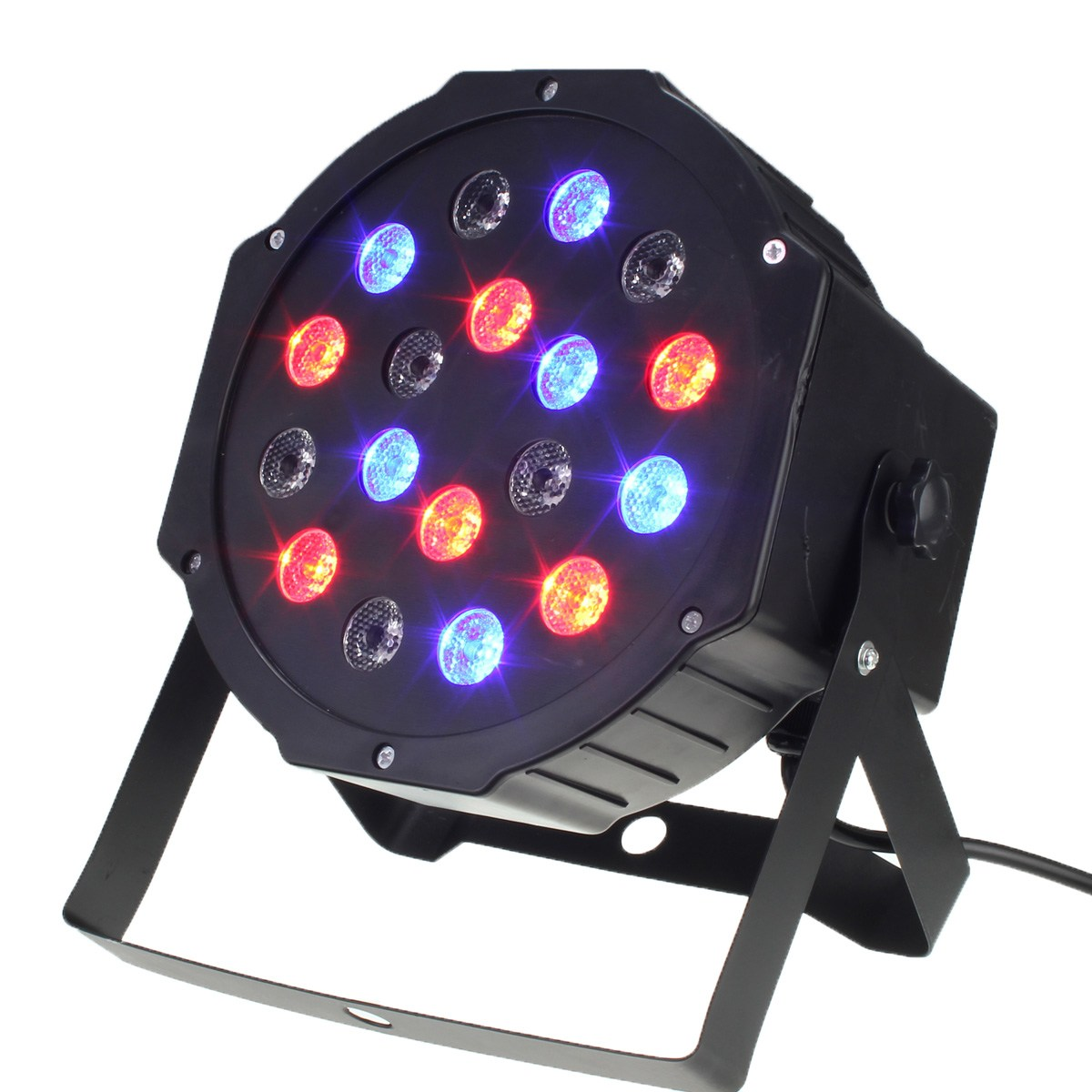 Auto Sound Laser Projector 18W RGB LED Stage Light Night Lamp DMX-512 PAR Party Disco KTV DJ Garden Stage Lighting Effect