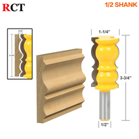 1pc 1 2 Shank Elaborate Large Crown Molding Router Bit Profile Line Knife Woodworking Cutter Tenon