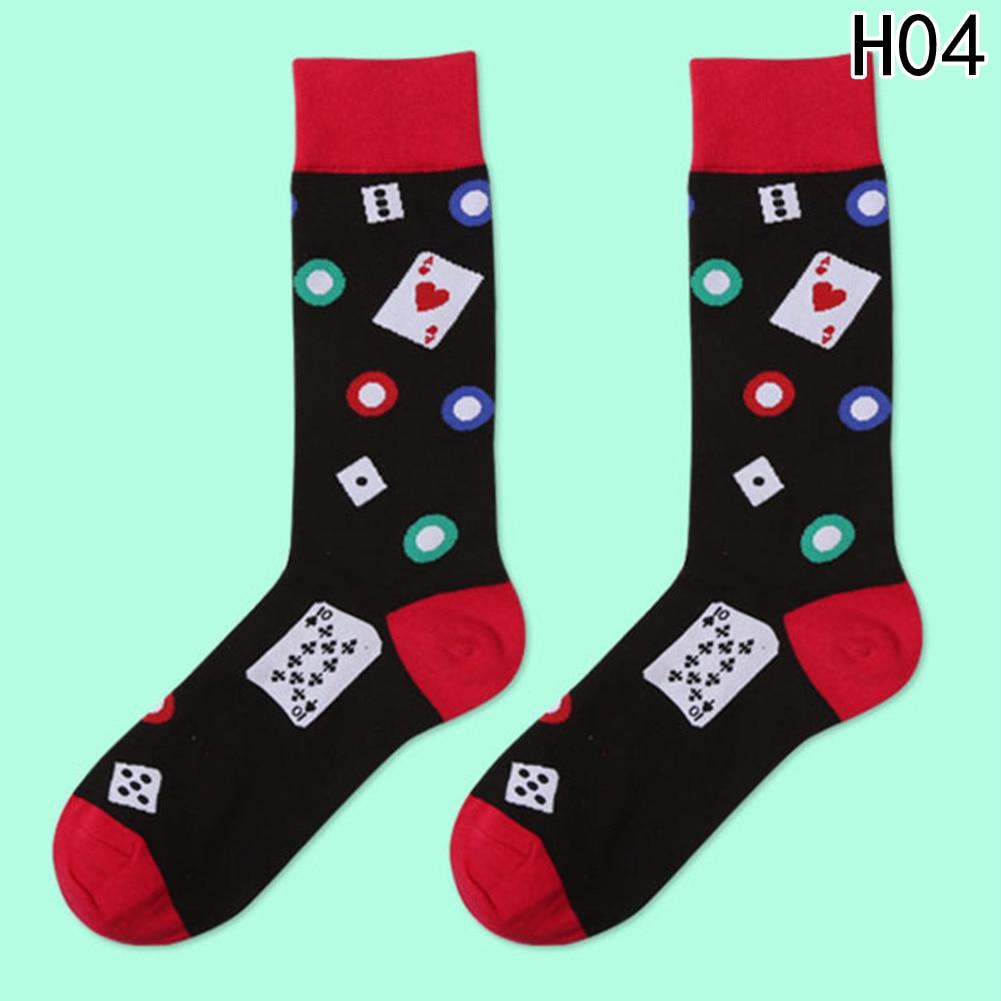 Hot Sale 1 Pair High Quality Socks Men Musical Note Beer Printed Cotton Hip Hop Long Funny Socks Harajuku Designer 2018