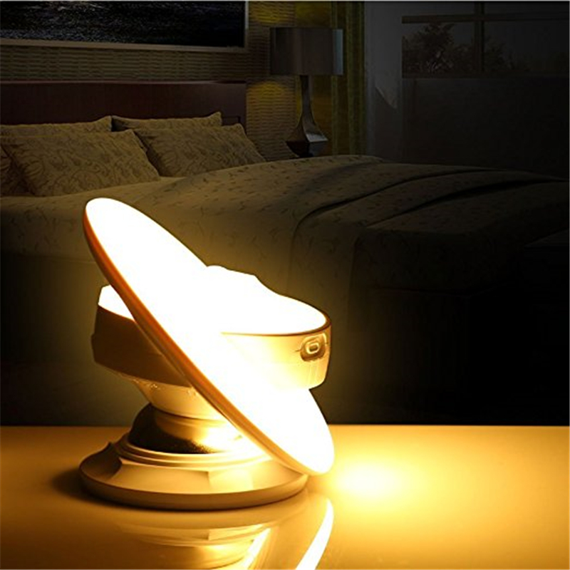 UFO Changeable Motion Sensor 360 Degree Rotating Kids room Battery Night Light USB Rechargeable Cabinet Wall Lamp with 3 modes