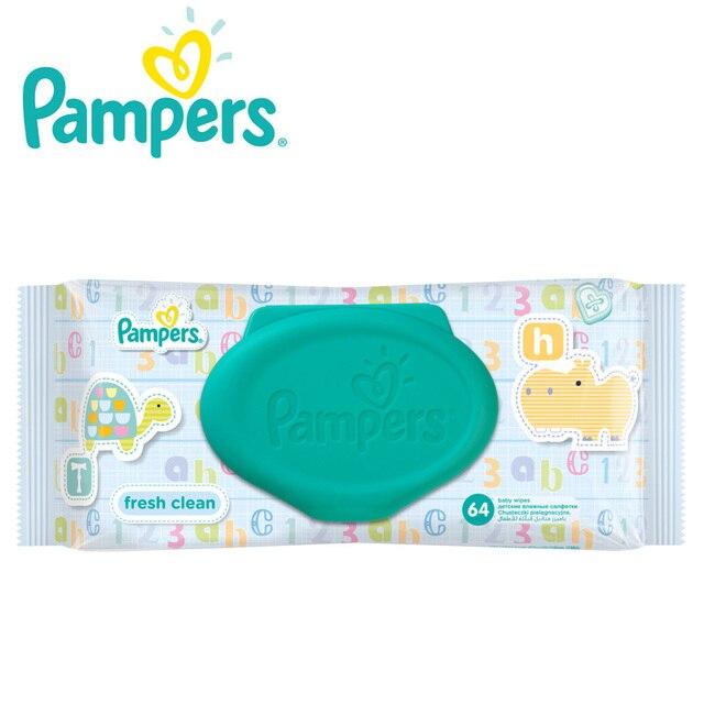 Детские влажные салфетки Pampers Baby Свежий, Чистый, 64 шт.