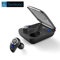 Samload I7 PLUS Wireless Bluetooth Earphone Business Earphones Wireless 3D Stereo Headsets Power Bank Bluetooth Phone