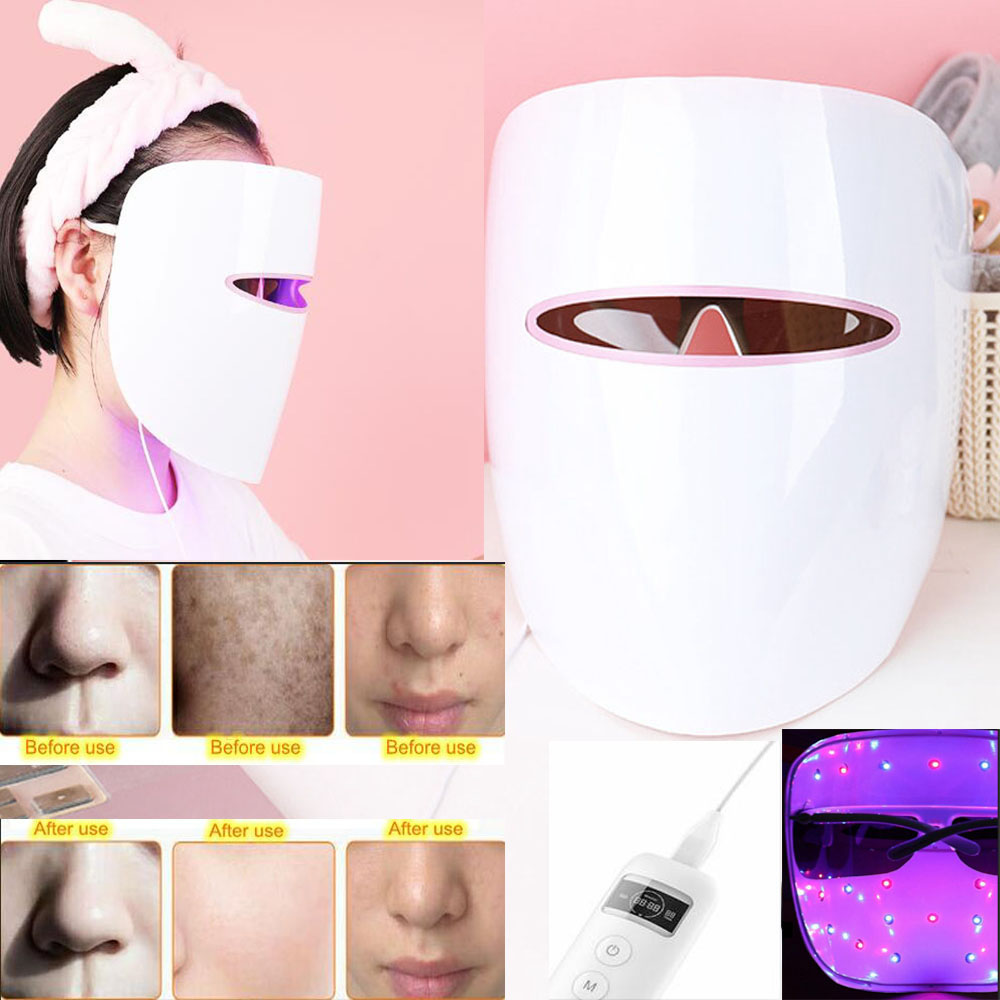 Xpreen LED masque pour le visage acné bouton dissolvant bleu rouge thérapie de la lumière Anti-rides dissolvant visage soins de la peau Machine LED masque