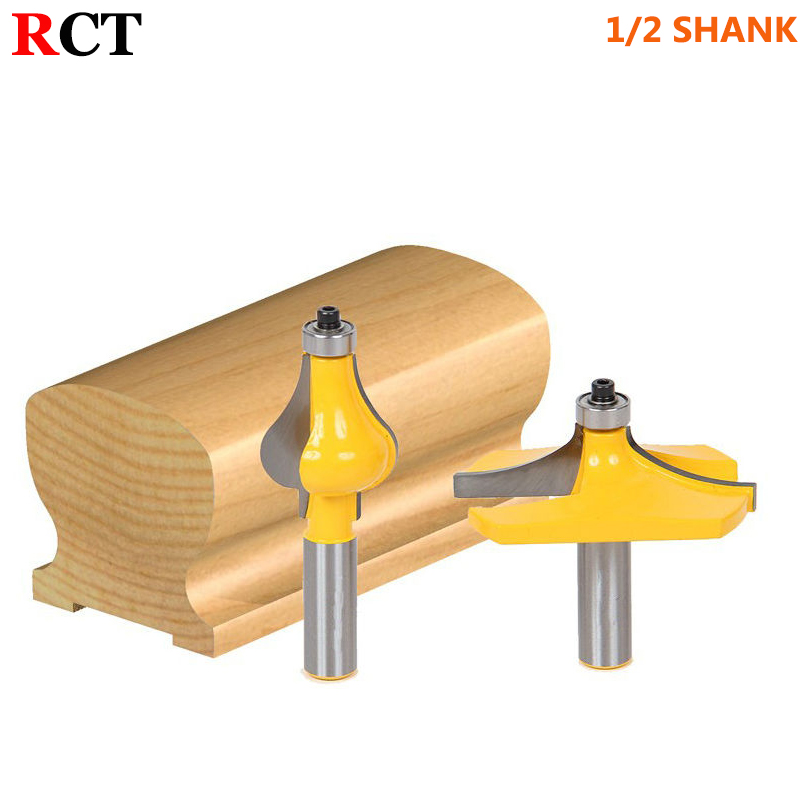 2 Bit 1/2 Shank Handrail Router Bit Set - Standard/Flute Line knife Woodworking cutter Tenon Cutter for Woodworking Tools high grade carbide alloy 1 2 shank 2 1 4 dia bottom cleaning router bit woodworking milling cutter for mdf wood 55mm mayitr