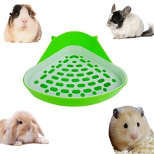 Hot Sale 1Piece Pet Cat Rabbit Pee Toilet Small Animal Hamster Pig Litter Tray Corner Training Color Random