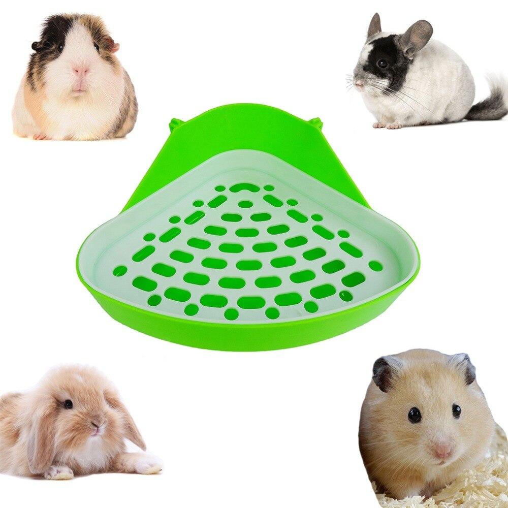 Vente chaude 1 Pièce Pet Chat Lapin Pee Toilette Petit Animal Hamster Cochon Bac à Litière Coin Pet Litière Formation Plateau Couleur aléatoire