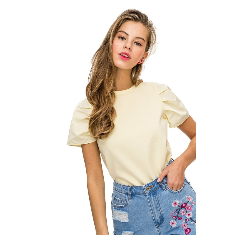 T-Shirts befree shirt for female short sleeve women clothes apparel  1811265465-9 TmallFS v neck flower and bird print plus size short sleeve men s t shirt