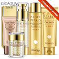 Bioaqua Pure Pearls Facial Skin Care Set Hyaluronic Acid Deep Moisturizing Anti Wrinkle Face care Pearl Whitening Day Cream Set