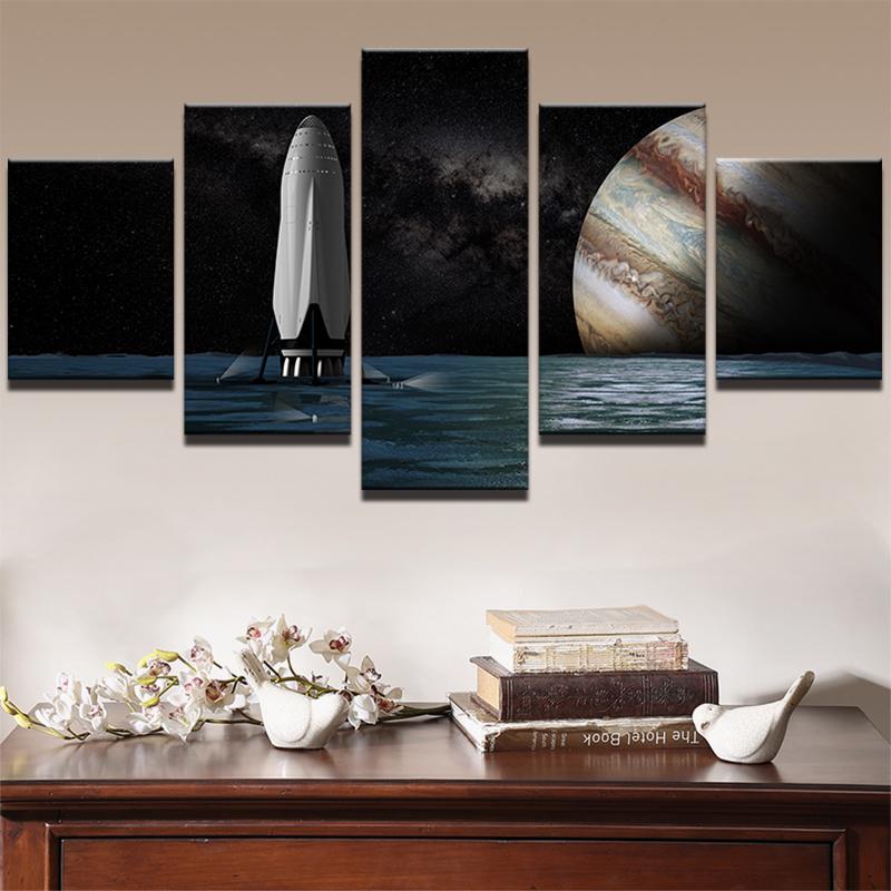 Starry Sky Planet Landscape Photo