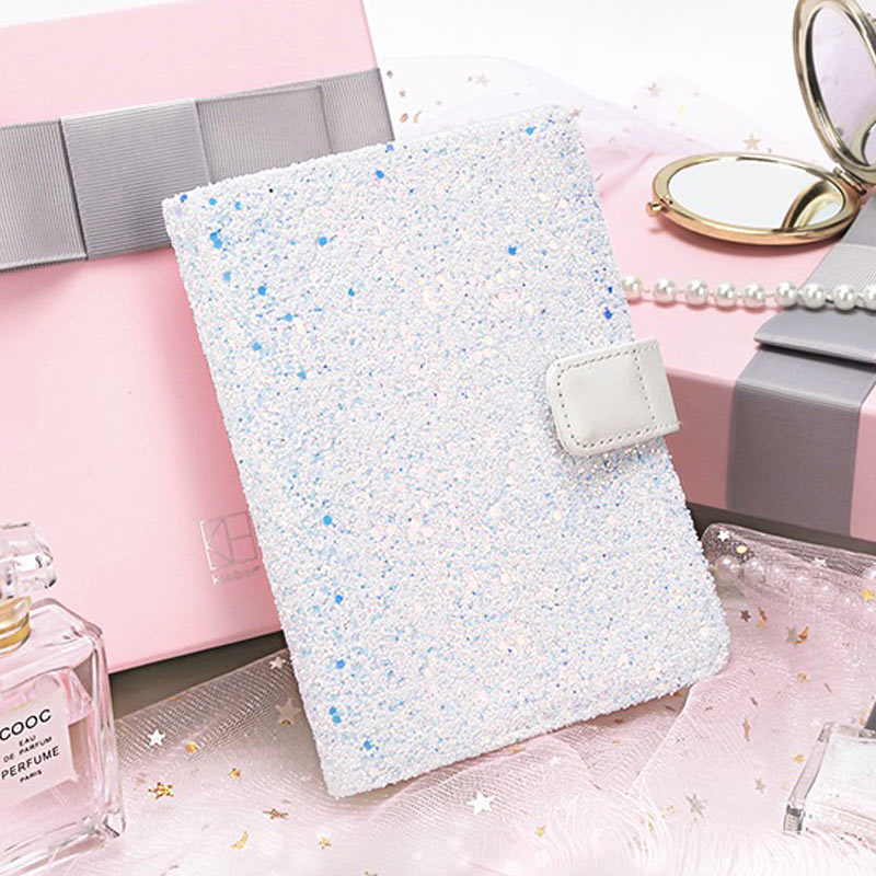 Yiwi A6 Creative Blue Sequins Daily Planner Organizer Agenda Schedule Notebook Dairy Bullet Journal Book Cover For Hobonichi 2018 yiwi hobo a6 white clothes planner organizer agenda dairy notebook cover matching hobonichi a5 a6