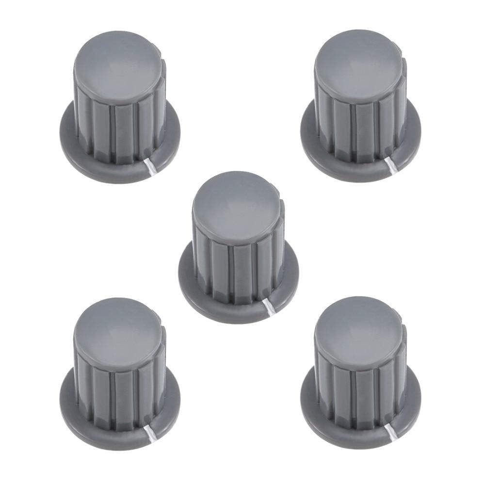 uxcell 10Pcs 6mm Insert Shaft 25x19.5mm Plastic Potentiometer Rotary Knob Pots
