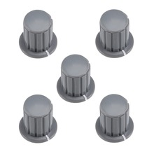 UXCELL 5Pcs 6mm Insert Shaft 16x16.5mm Or 32.5x20.5mm Plastic Potentiometer Rotary Knob Pots Grey Connect