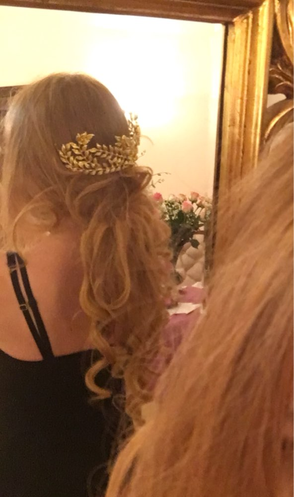 New design bridal hair jewelry vintage hair comb gold leaves crown leaf wedding accessories wholesale women headpiece