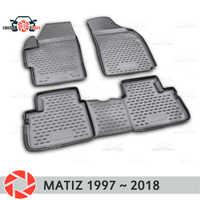 Floor mats for Daewoo Matiz 1997~2018 rugs non slip polyurethane dirt protection interior car styling accessories