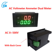 YB4835VA AC0-500V/500A Digital AC Current Voltage Dual Meter Voltage Regulator Dedicated Black Cover AC Voltmeter Ammeter