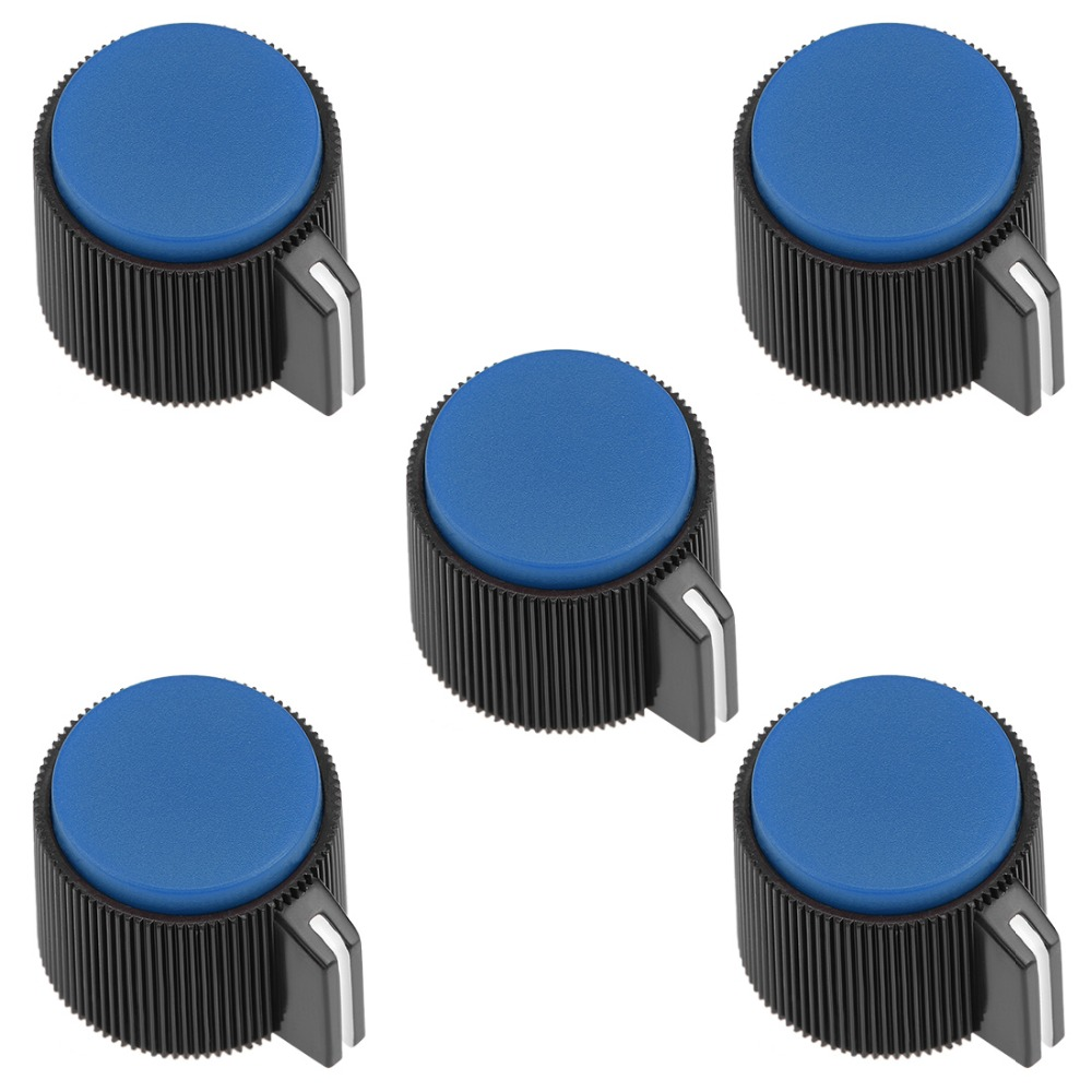 UXCELL 5Pcs 19x16mm Bakelite Switches Potentiometer Volume Control Rotary Knob For 6mm Dia Hole Supplies Blue Yellow Red Green in Switches from Lights Lighting