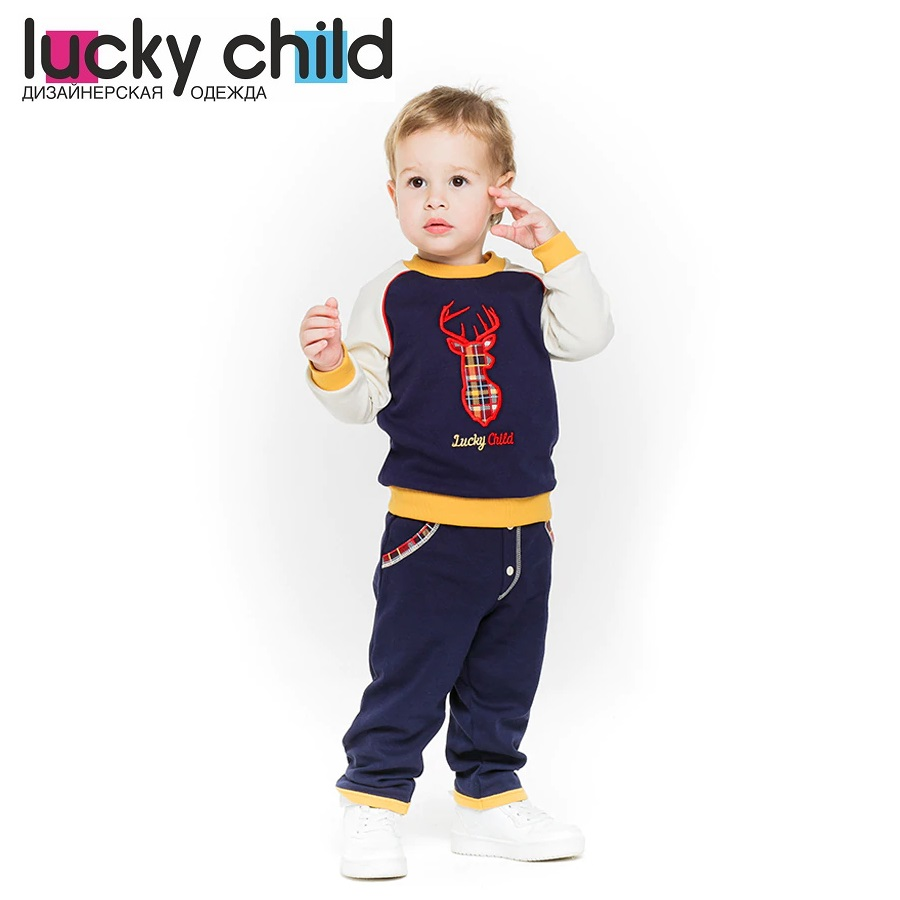 Hoodies &  Sweatshirt Lucky Child for boys 27-12  Kids  Baby clothing  Children clothes Jersey Blouse summer child suit new pattern girl korean salopettes twinset child fashion suit 2 pieces kids clothing sets suits