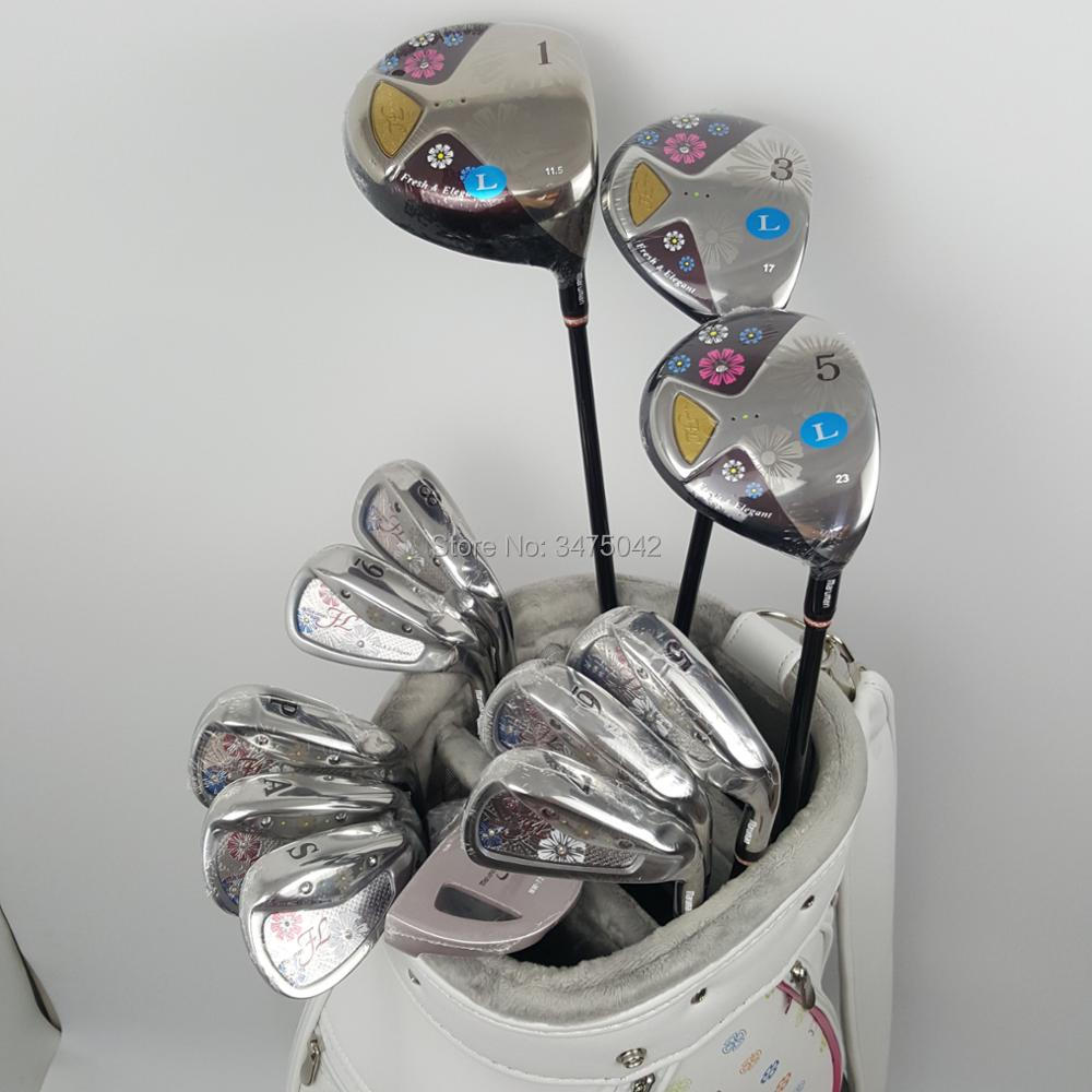 New womens Golf clubs Maruman FL Golf complete set of clubs driver+fairway wood+irons+putter Graphite Golf shaft free shipping womens golf clubs maruman rz complete clubs set driver fairway wood irons graphite golf shaft and cover no ball packs