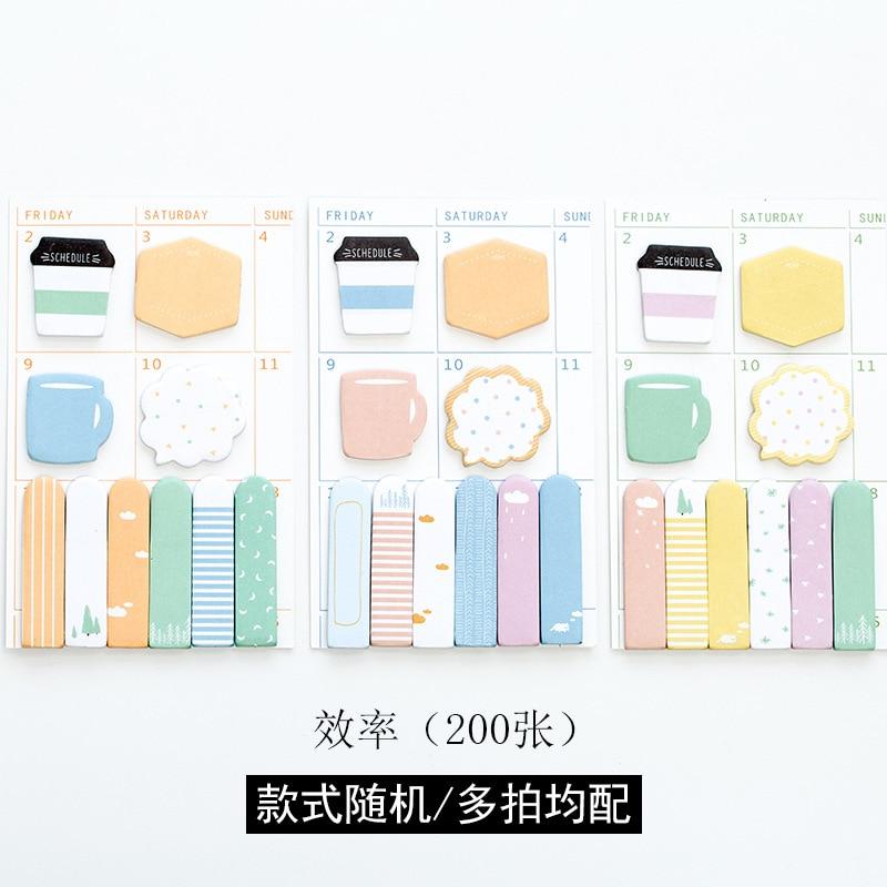 20 sets/1 lot Creative Efficiency combination Memo Pad Sticky Notes Escolar Papelaria School Supply Bookmark Post it Label