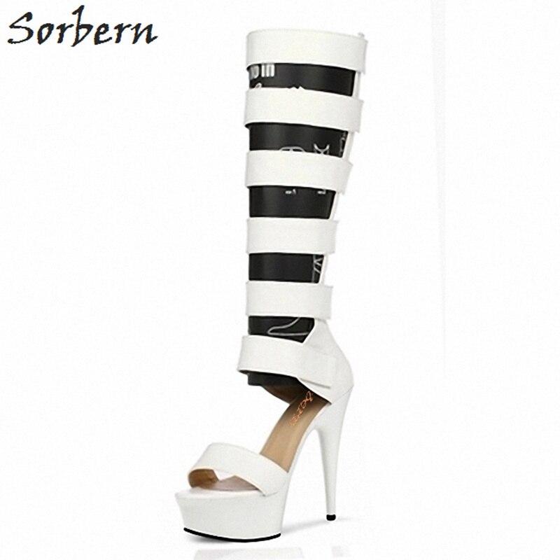 Sorbern см 15 см 17 см 20 см Glaidator сапоги для женщин Летняя обувь на высоком каблуке платформа для девочек сапоги на заказ цвет Размер 11 женская обув