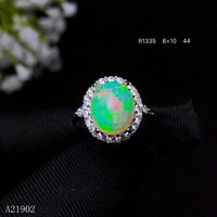 KJJEAXCMY boutique jewelry 925 sterling silver inlaid natural Furong stone powder crystal female luxury Ring support detecti