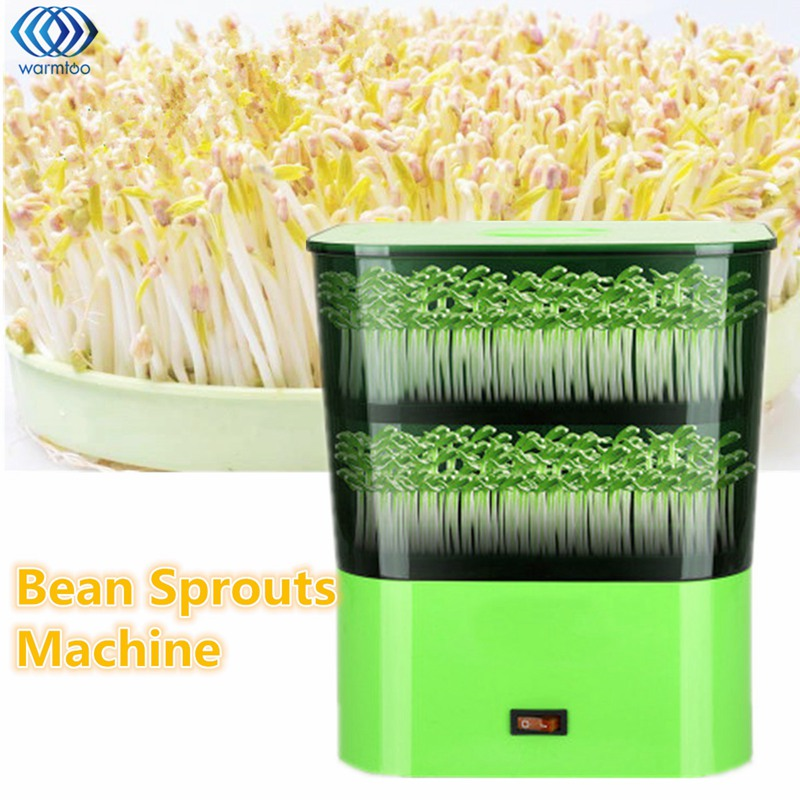 Full Automatic Bean Sprouts Machine Double Layer Household Multifunctional Small Bud Machine Green 220V Kitchen bear three layers of bean sprouts machine intelligent bean sprout tooth machine dyj b03t1