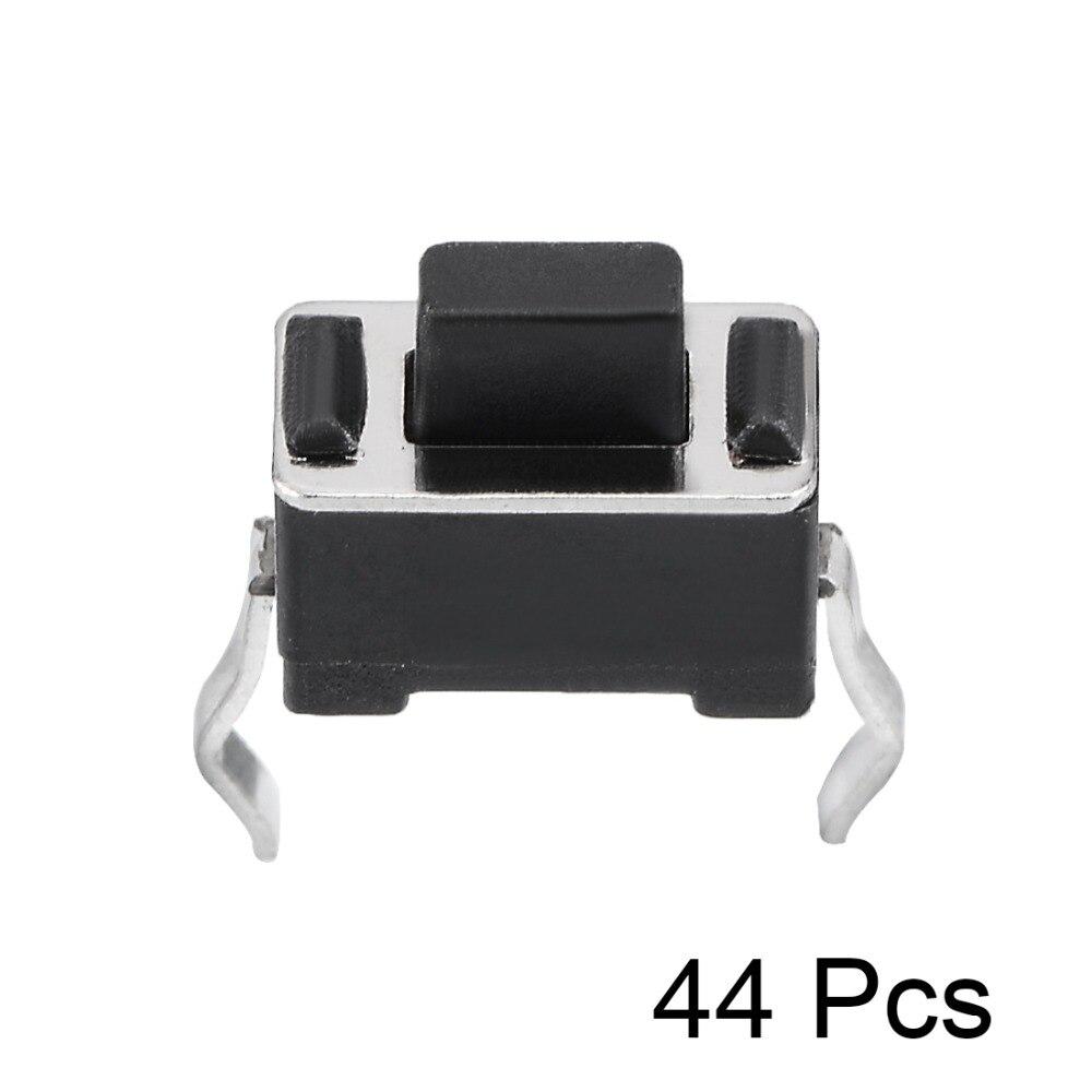 UXCELL 6x3.5x5mm 44 pcs Interruptores Do Painel de Mini/Micro/Pequeno PCB Botão Momentâneo interruptor DIP Tátil Tact Switch Acessórios