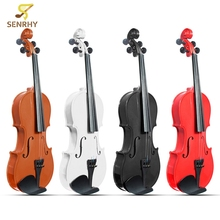 3/4 Violin Natural Acoustic Basswood Face Board Violin Aluminium Alloy Tailpiece Musical Instruments with Case Rosin Foam Box