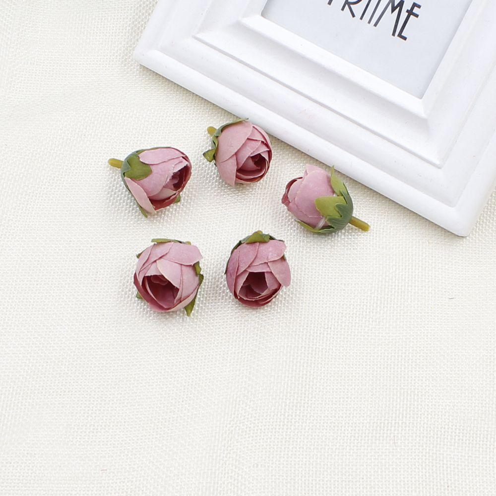 How to scrapbook materials - 30pcs Lot Artificial Silk Flower Rose Tea Bud Heads For Bouquet Wreath Scrapbooking Wedding Diy