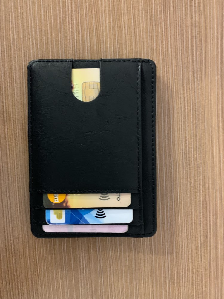 TRASSORY Men Women Small Bank Travel Leather Business Card Case Slim Rfid Lightweight Front Packet Wallet photo review