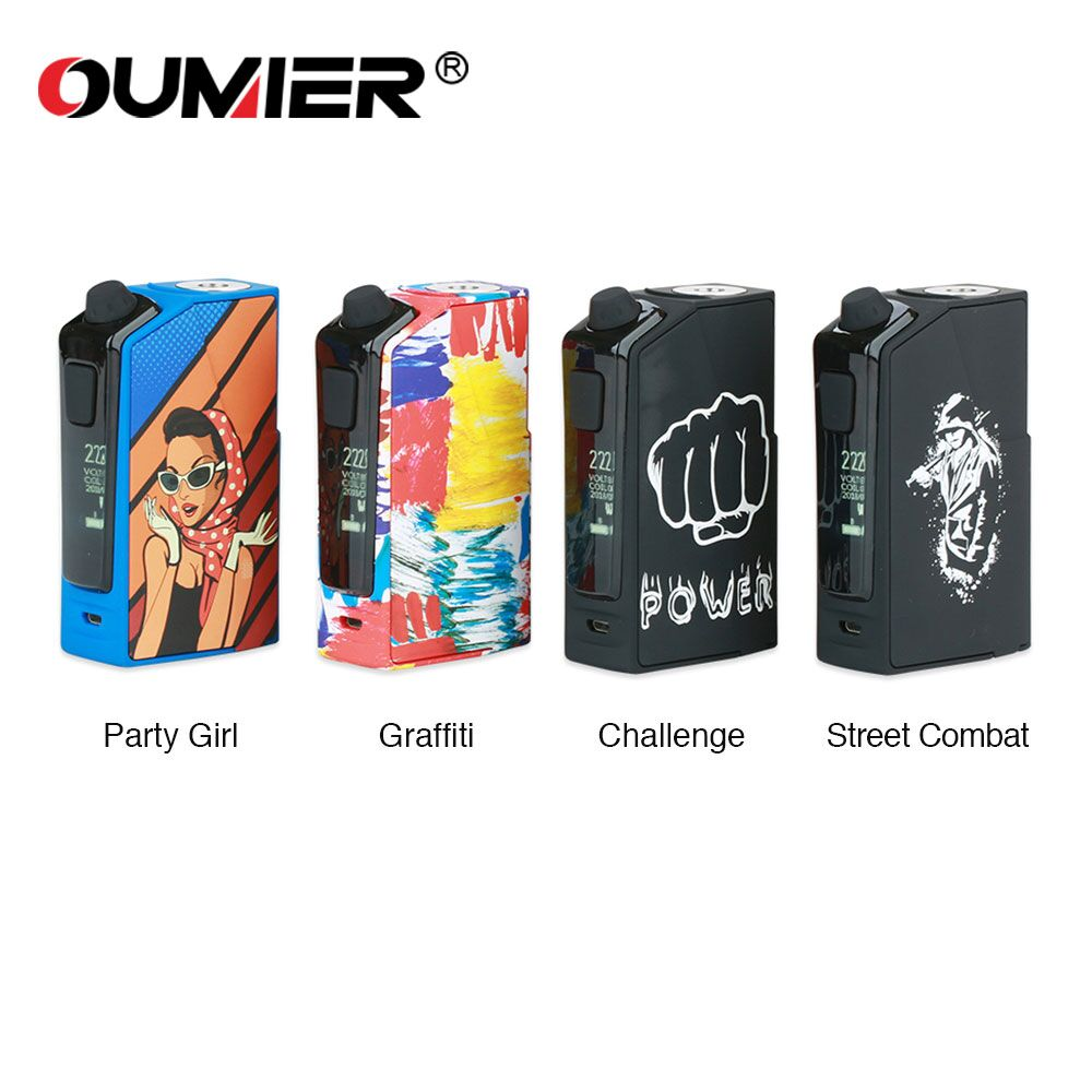 Oumier Flash VT-1 222W Box Mod Electronic Cigarettes Powered By Dual 18650 Batteries Fit 510 Thread RTA RDA RDTA Vape Vaporizer цена