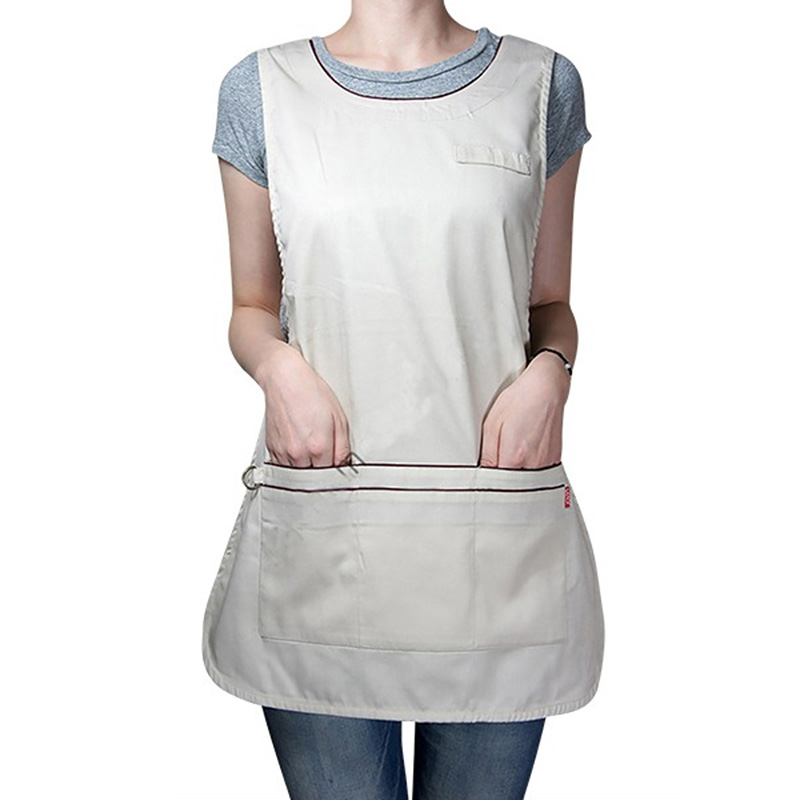 New Kitchen Apron Working Apron Men Women Adjustable Buttons Workwear Tabard Apron Bookstore Coffee House Supplies